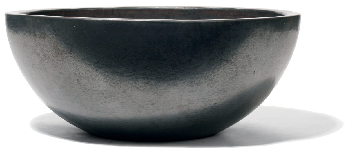 Vaso Graphit bļodveida formas keramikas puķu pods - izmērs L D70H29
