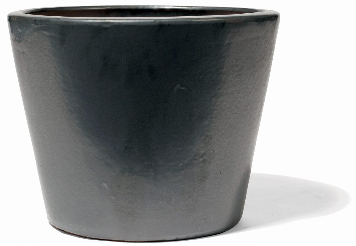 Vaso Graphit klasiskas formas zems keramikas puķu pods - izmērs S D34H28