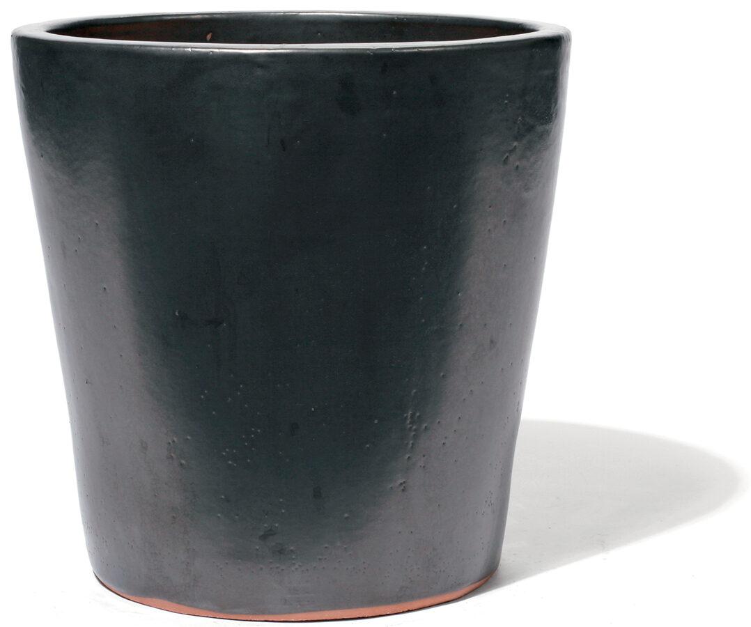 Vaso Graphit klasiskas formas keramikas puķu pods - izmērs M D45H45