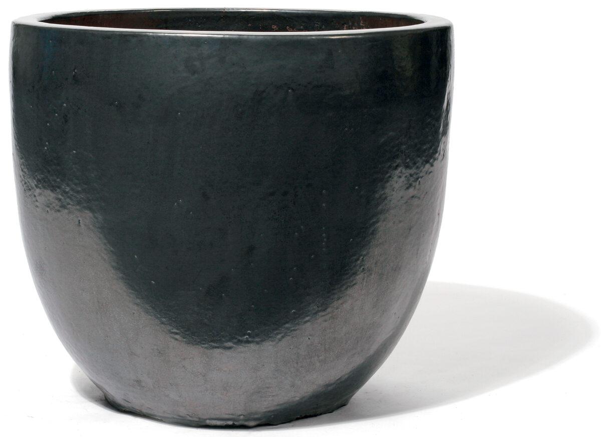 Vaso Graphit klasiskas formas apaļš keramikas puķu pods - izmērs M D43H48