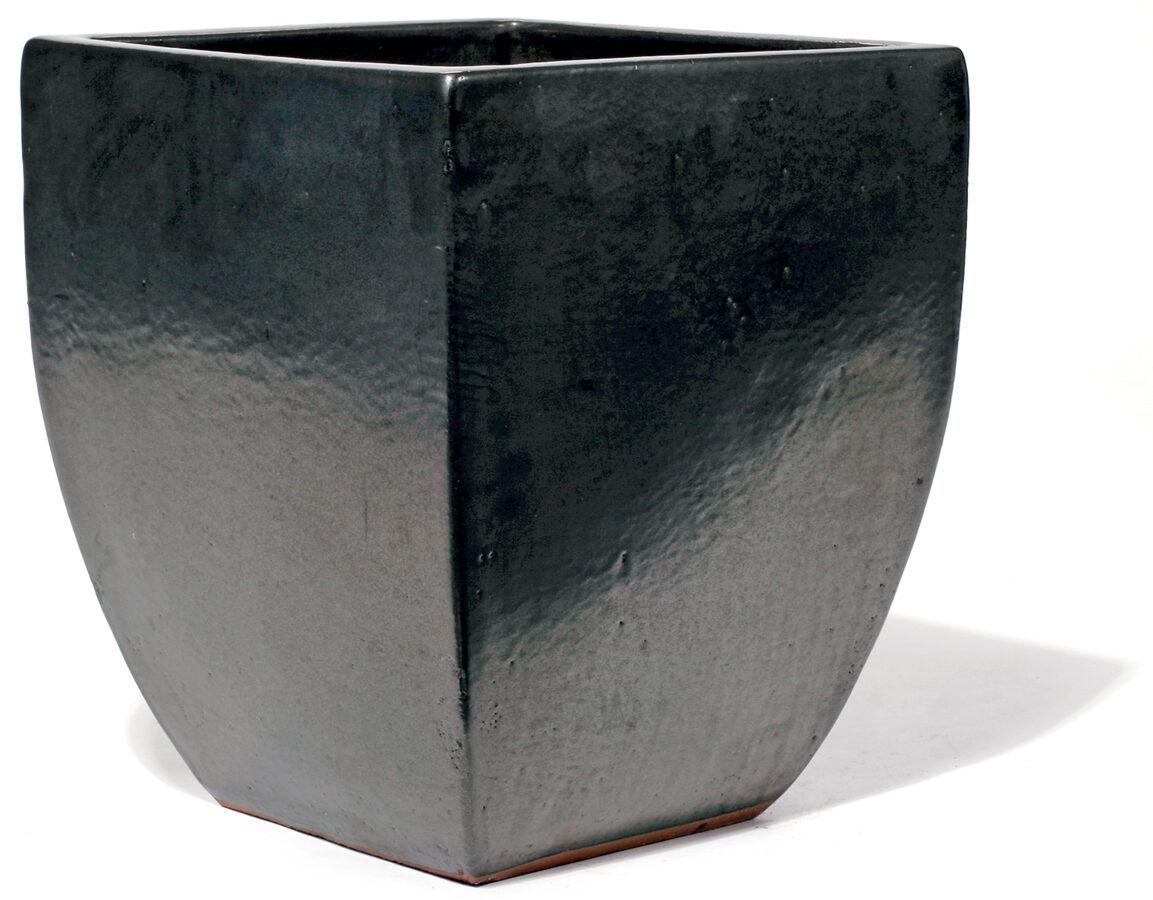 Vaso Grpahit kantainas formas keramikas puķu pods - izmērs L D51x51H60