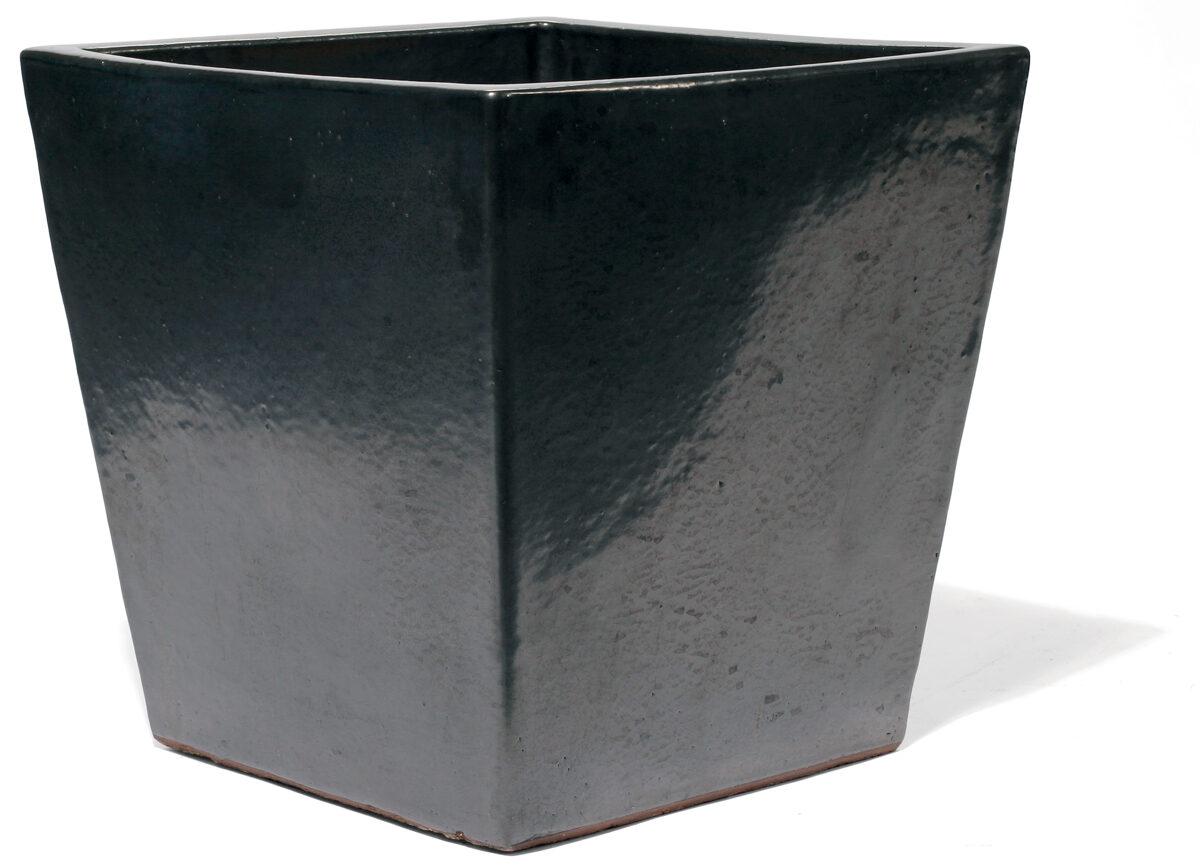 Vaso Graphit kantainas formas keramikas puķu pods - izmērs M D45x45H45
