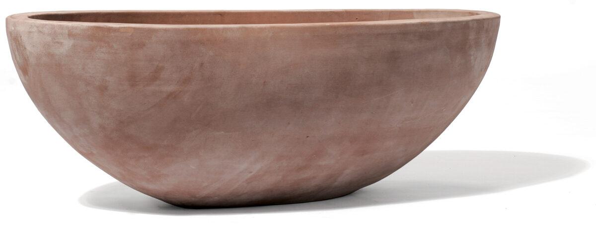 TerraBruna ovāls puķu pods - izmērs L, D78x38, H26