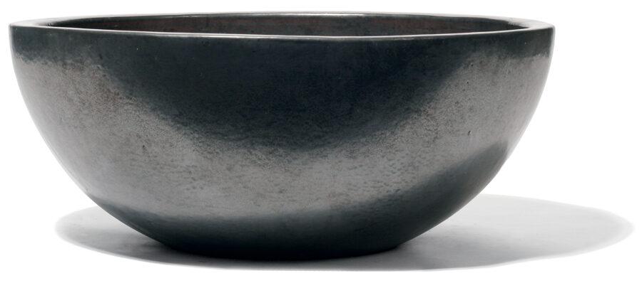 Vaso Graphit bļodveida formas keramikas puķu pods - izmērs M D60H25